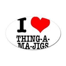 I Heart (Love) Thing-A-Ma-Jig 22x14 Oval Wall Peel
