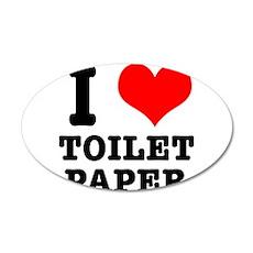 I Heart (Love) Toilet Paper 38.5 x 24.5 Oval Wall