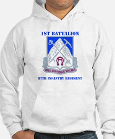 DUI - 1st Bn - 87th Infantry Regt with Text Hoodie