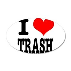 I Heart (Love) Trash 22x14 Oval Wall Peel