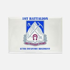 DUI - 1st Bn - 87th Infantry Regt with Text Rectan