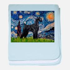 Starry Night Schnauzer baby blanket