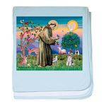 St Francis & Schnauzer (#5) baby blanket