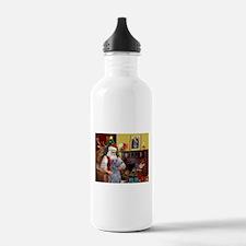 Santa's Deerhound Water Bottle