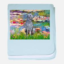 Lilies & Deerhound baby blanket