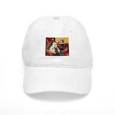 Santa's two Scotties (P1) Baseball Cap