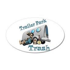 Trailer Park Trash Design 22x14 Oval Wall Peel