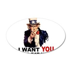 Want You To Eat Me 22x14 Oval Wall Peel