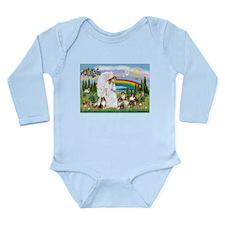 Angel & Five Shelties Long Sleeve Infant Bodysuit