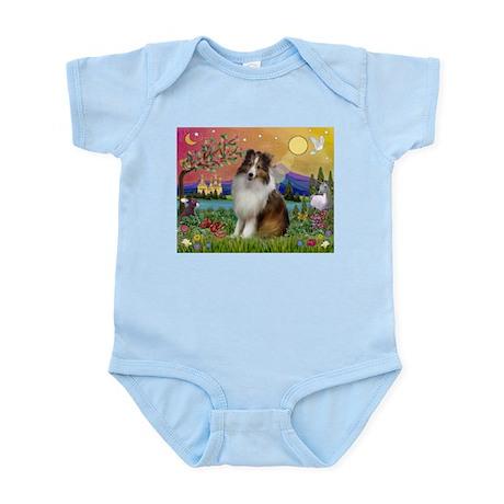Sheltie in Fantasy Land Infant Bodysuit