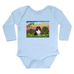 BrightC/Sheltie (sw) Long Sleeve Infant Bodysuit