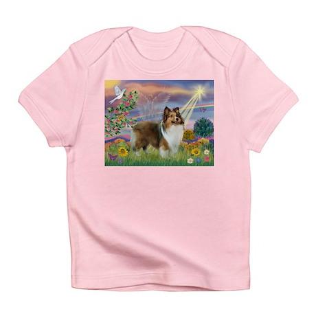 Cloud Angel & Sheltie Infant T-Shirt