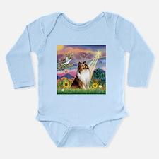 Cloud Angel Sheltie Long Sleeve Infant Bodysuit
