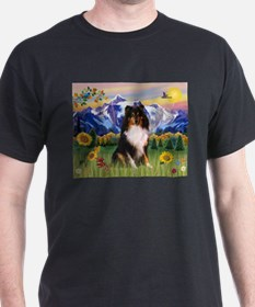 Mt. Country & Tri Shetland Sheepdog T-Shirt