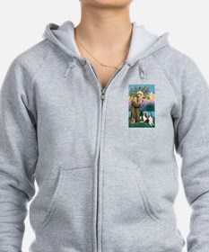 St Francis / Two Shelties Zip Hoody