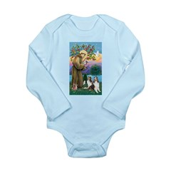 St Francis / Two Shelties Long Sleeve Infant Bodys