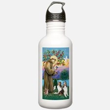 St Francis / Two Shelties Water Bottle