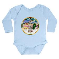 XmasMagic/Shih Tzu Long Sleeve Infant Bodysuit