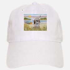 Beach with Shih Tzu Baseball Baseball Cap