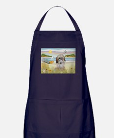 Beach with Shih Tzu Apron (dark)