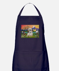 Shih Tzu in Fantasy Land Apron (dark)