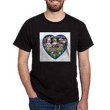 Shih Tzus in Heart Garden T-Shirt