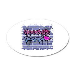 """Graffiti Style """"Hoochie Momma 38.5 x 24.5 Ova"""