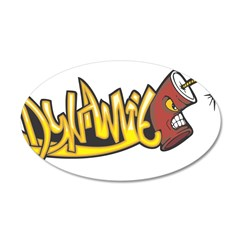 "Graffiti ""Dynamite"" Design 22x14 Oval Wa"
