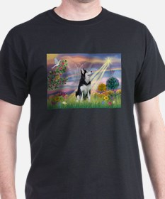 Cloud Angel & Siberian Husky T-Shirt