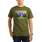 Mt Country & Husky Organic Men's T-Shirt (dark)