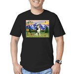 Mt Country & Husky Men's Fitted T-Shirt (dark)