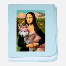 Mona & her Red Husky baby blanket