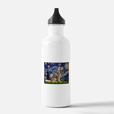 Starry Night & Husky Water Bottle