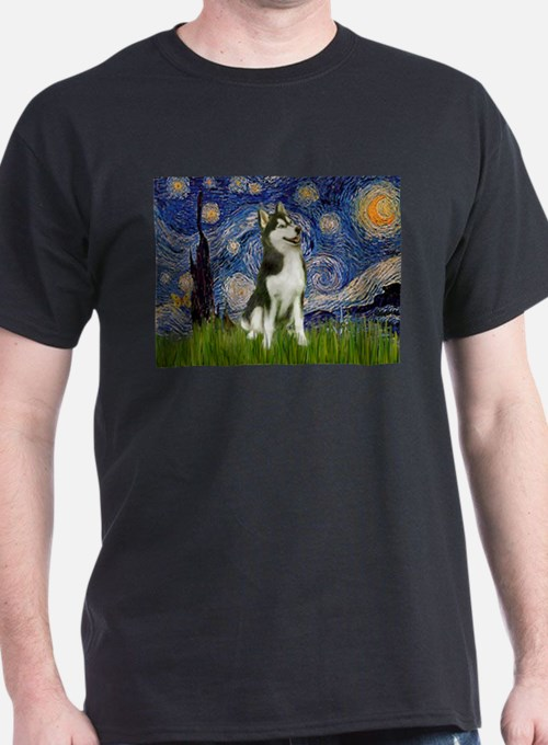 Starry Night & Husky T-Shirt