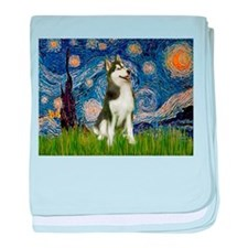 Starry Night & Husky baby blanket