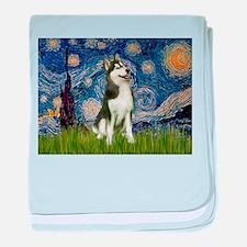 Starry Night & Husky baby blanket