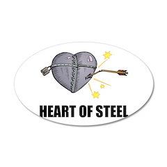 Heart of Steel Design 38.5 x 24.5 Oval Wall Peel