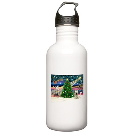 Xmas Magic & Skye Terrier Stainless Water Bottle 1