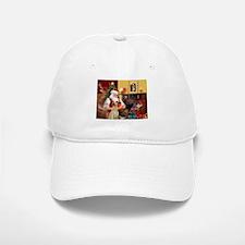 Santa's Sloughi Baseball Baseball Cap