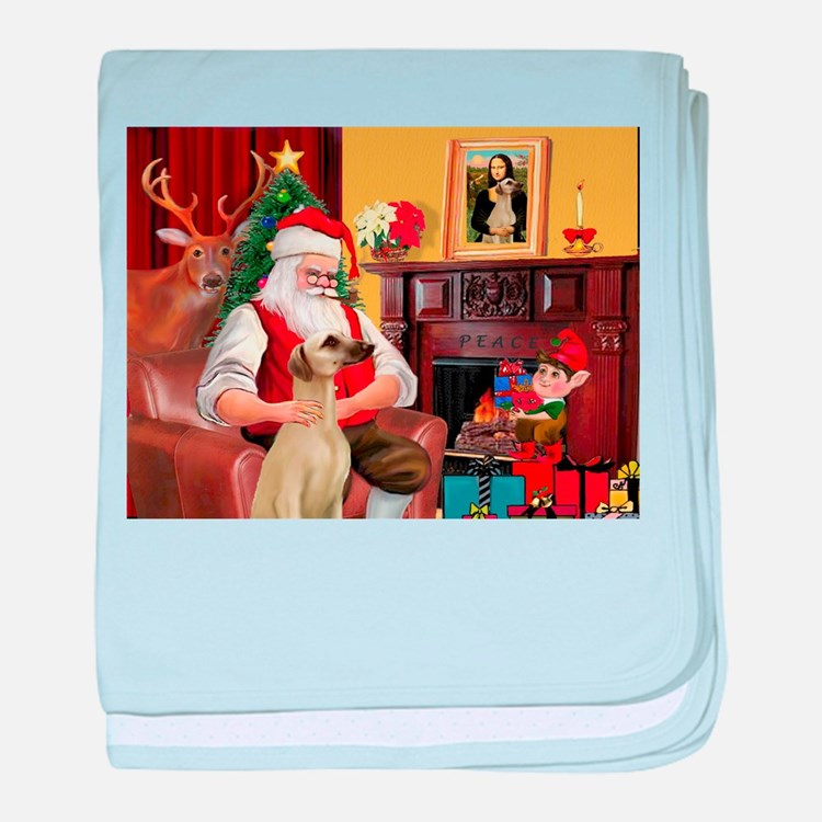 Santa's Sloughi baby blanket