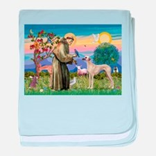 Saint Francis & Sloughi baby blanket