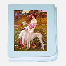 Wind Flowers & Sloughi baby blanket