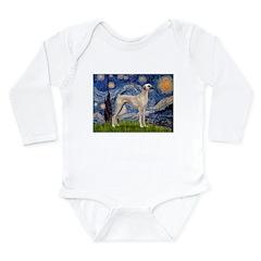 Starry Night Sloughi Long Sleeve Infant Bodysuit