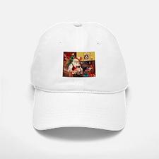 Santa's Tibetan Spaniel Baseball Baseball Cap