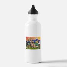 Tibetan Spaniel in Fantasy La Water Bottle