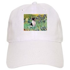 Irises & Toy Fox Terrier Baseball Cap
