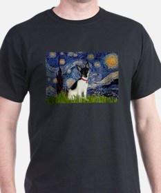 Starry Night & Toy Fox Terrie T-Shirt