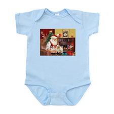 Santa's three Chihuahuas Infant Bodysuit