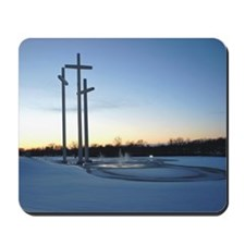 Three Crosses in the Snow Mousepad