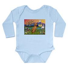 Vizsla in Fantasyland Long Sleeve Infant Bodysuit